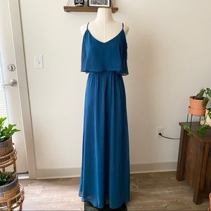 Ceremony By Joanna August Dani Dress in Teal Blue